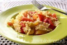 Pasta alle carote e peperoni